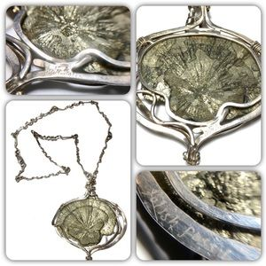 Fossil Jewelry - Vicki Thaler Fossil Sterling Pyrite Necklace